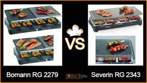 COMPARATIVA Raclettes Bomann RG 2279 vs Severin RG 2343