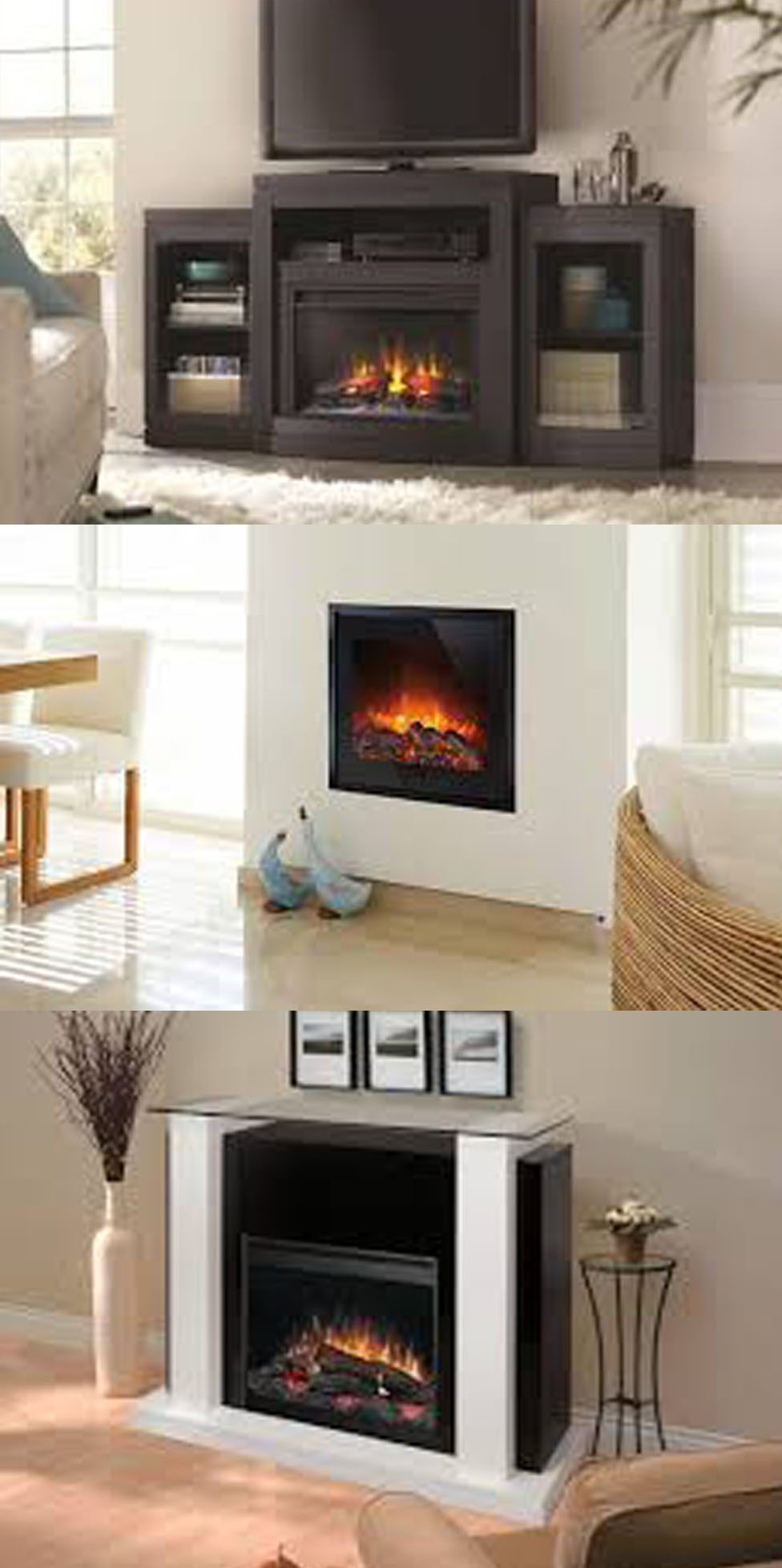 Muebles de salon con chimenea electrica gallery of cmo for Chimeneas electricas decorativas