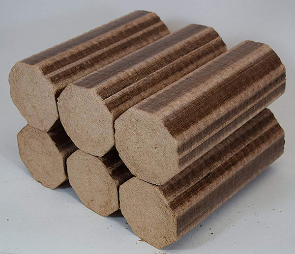 Briquetas prensadas de madera