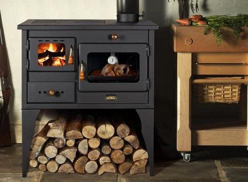 Cómo funciona la Prity Estufa de leña, chimenea, horno, hecha de hierro fundido